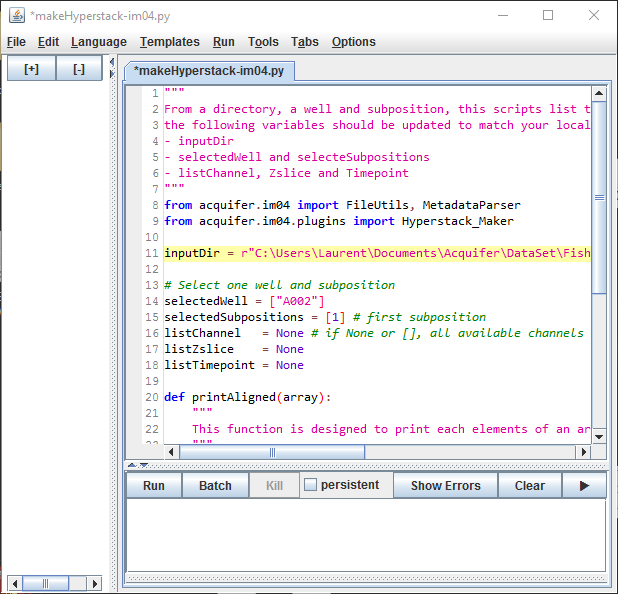 scripting in fiji with the acquifer API
